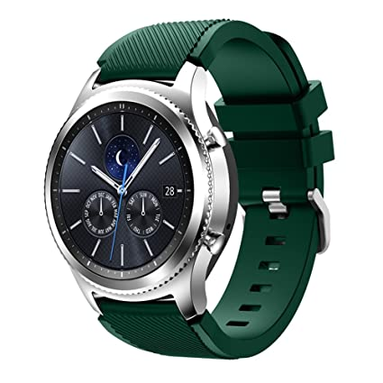 Feskio Samsung Gear S3 Frontier / S3 Classic Replacement Watch Band, Accessory Soft Silicone Bracelet Wrist Strap Watch Band for Samsung Gear S3 ...