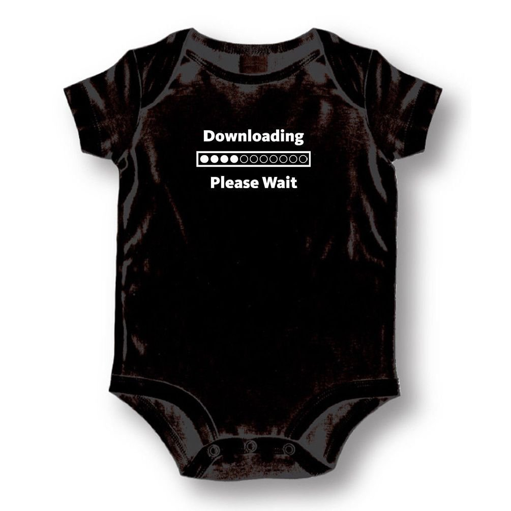 Dustin clothing series Downloading Please Wait Baby Boys Girls Toddlers Funny Romper 0-24M
