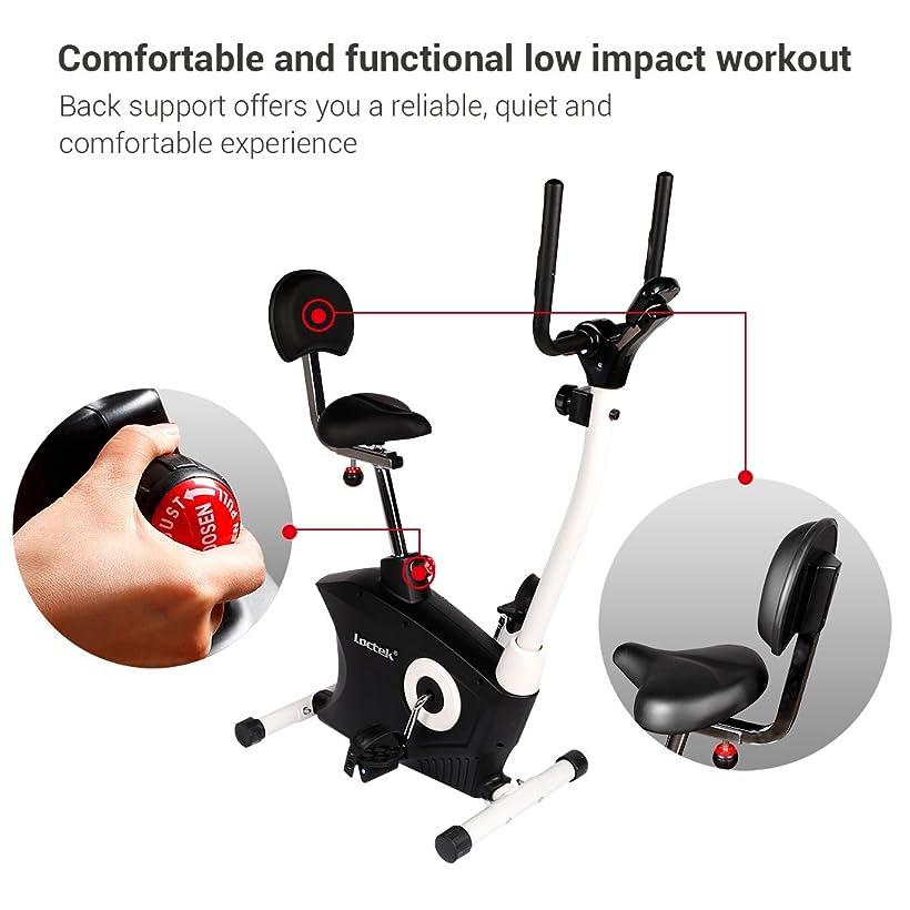 loctek exercise bike desk bike office cardio indoor stationary workstation cycling with laptop upright bike amazon