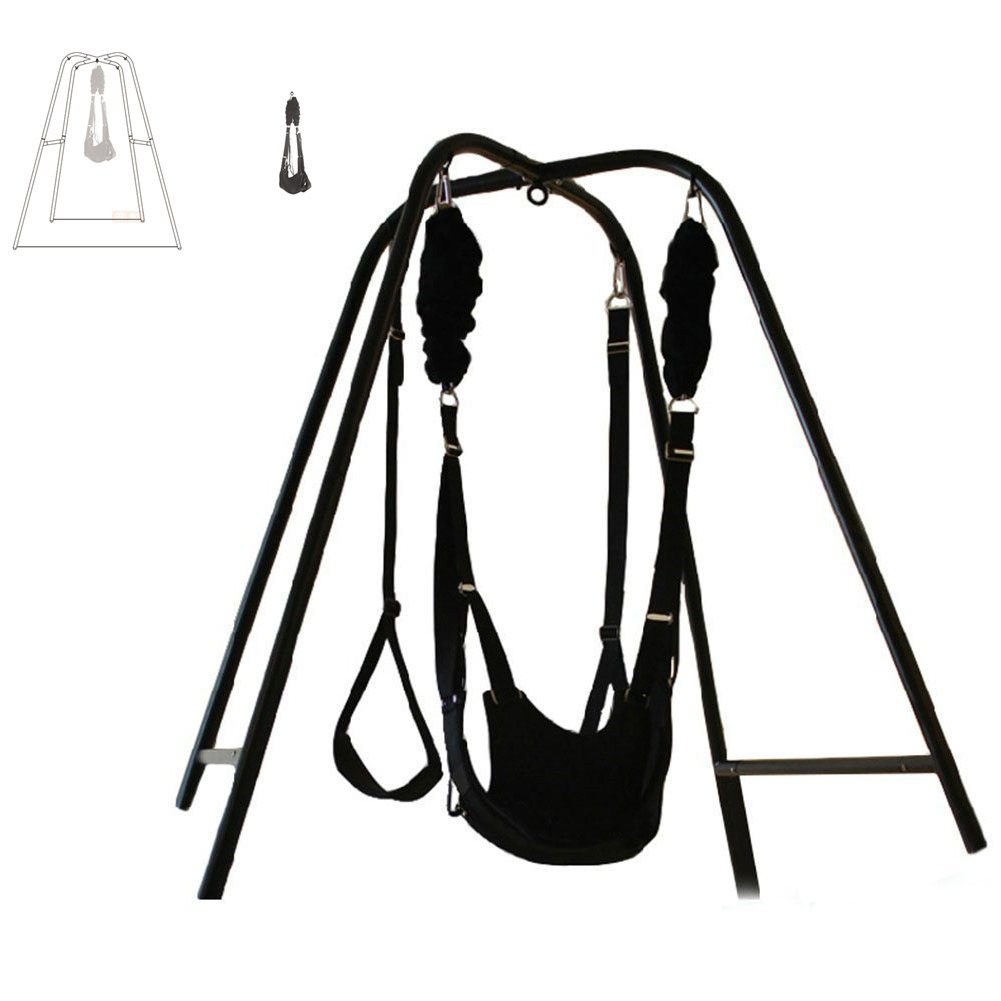 Yiwa Sex Toys Sex Furniture Sex Swing Stand with Body Restraint Clamp Belt Thigh Strap Waist Pad for Couples Lovers Novelty by Yiwa
