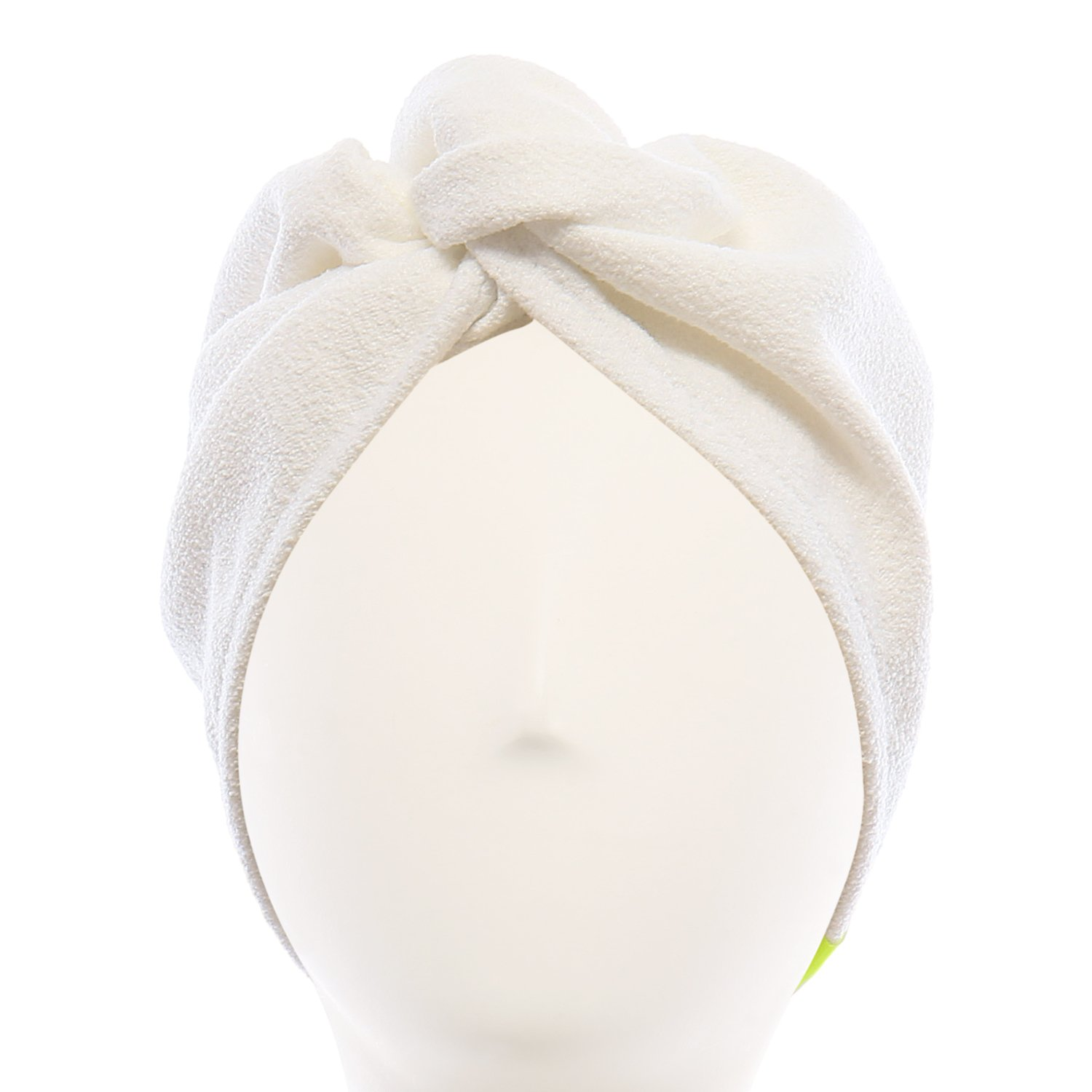 Aquis - Original Hair TURBAN, Patented Perfect Hands-Free Microfiber Hair Drying, White (10 x 26 Inches) by AQUIS