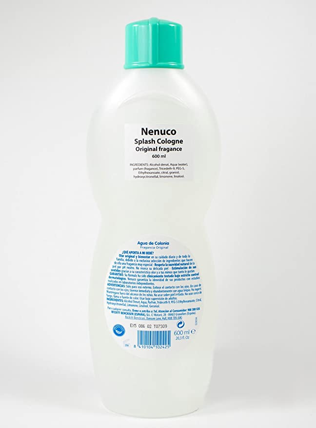 3 Nenuco Baby Cologne/agua De Colonia 20oz./600ml by NENUCO: Amazon.es: Salud y cuidado personal