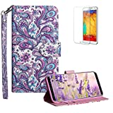 Funyye Strap Flip Cover for Samsung Galaxy S9 Plus,Stylish 3D Peacock Flower Design Magnetic Folio Wallet Leather Case with Credit Card Holder Slots PU Leather Cover for Samsung Galaxy S9 Plus,Full Body Shockproof KickStand Protective Soft Silicone Case for Samsung Galaxy S9 Plus + 1 x Free Screen Protector