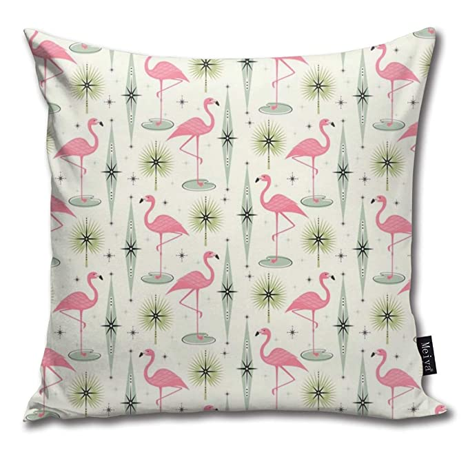 Zara-Decor Atomic Flamingo Oasis - Funda de cojín Decorativa ...