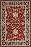 Cheap Safavieh Anatolia Collection AN517A Handmade Traditional Oriental Red and Navy Wool Area Rug (5′ x 8′)