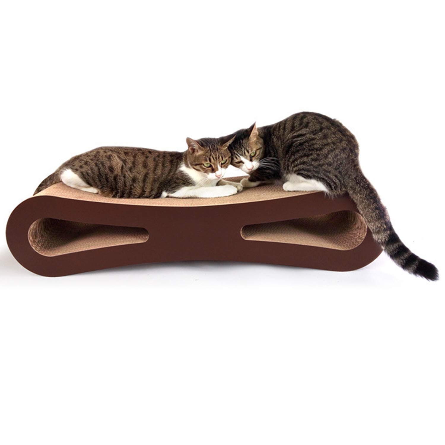 Durable Corrugated Paper Cat Scratch Board Cat Furniture Cat Claw Toy Cat Nest 83X26.5X19cm Suitable for Many Cats Or Other Small Pets High Load Bearing