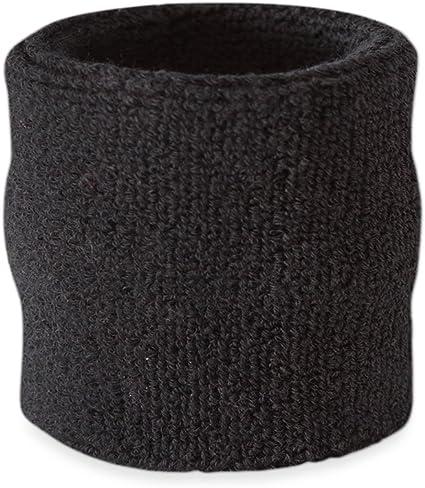 Suddora - Muñequeras, algodón, 1 unidad, negro: Amazon.es ...