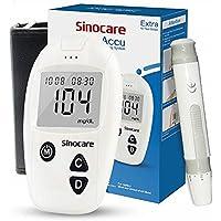 sinocare medidor de glucosa en sangre, kit de prueba de glucosa en sangre Safe-Accu con…
