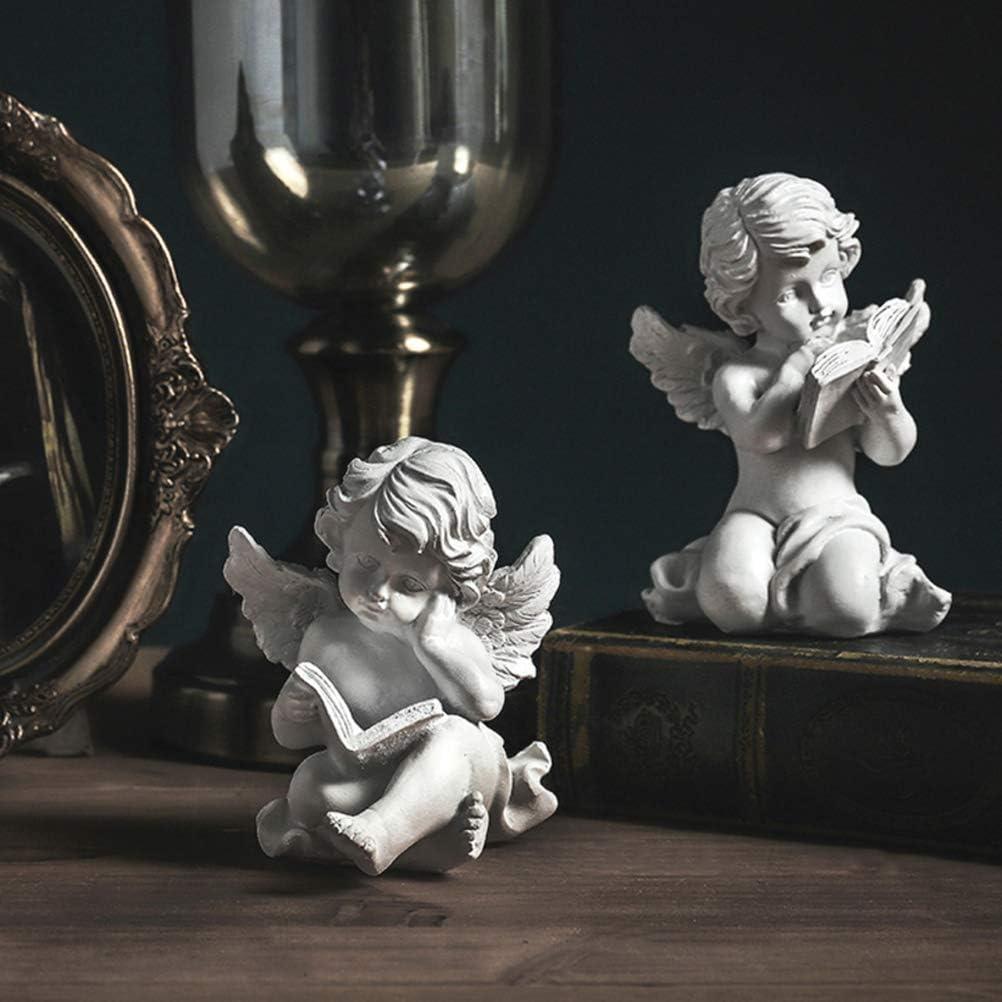 ZXYY Praying Cherub Angel Statue Sculpture Cupid Figurine Indoor Outdoor Garden Decoration Wings Angel Craft Crafts Memorial Art Ornaments d 9x11cm (4x4inch)