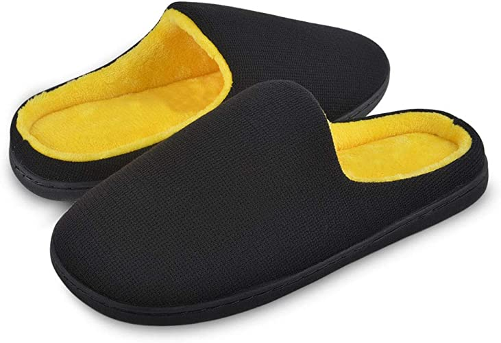 Slippers Two-Tone Memory Foam House Warm W//Indoor Outdoor Sole 11-12 US