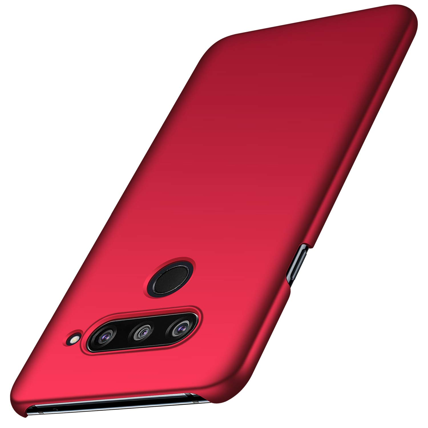 Arkour LG V40 ThinQ Case, LG V40 Case, Minimalist Ultra Thin Slim Fit Smooth Matte Surface Hard PC Cover for LG V40 ThinQ (Smooth Red)