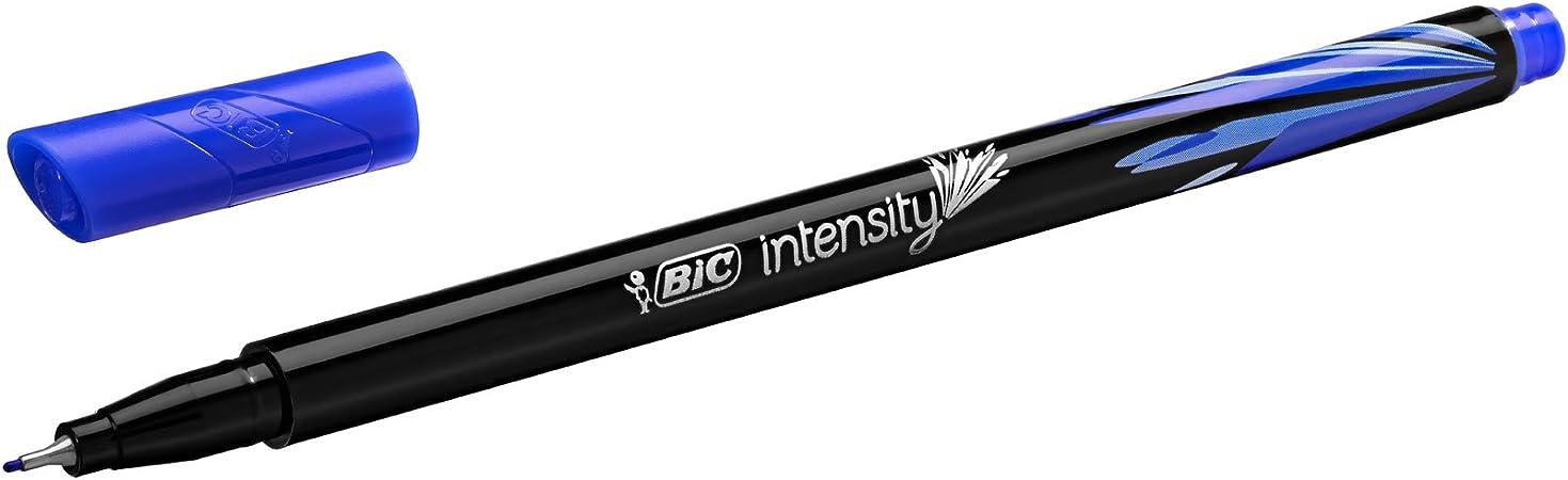 BIC Intensity Fine - Blíster de 20 unidades, rotulador punta fina (0,8 mm), colores surtidos: Amazon.es: Oficina y papelería