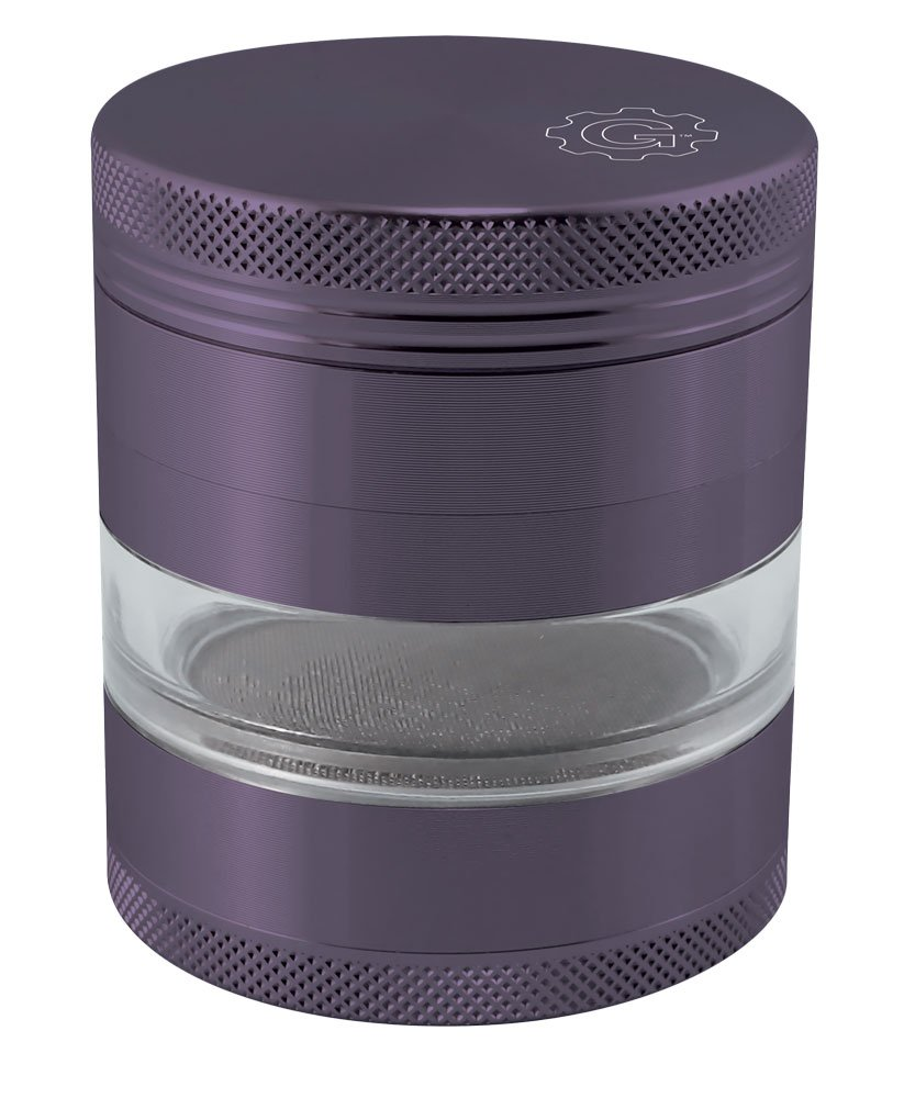 Grindhouse 4pc Grinder with Solid Top & Window - 2.5'' - Assorted Colors (Purple) by Grind House (Image #1)