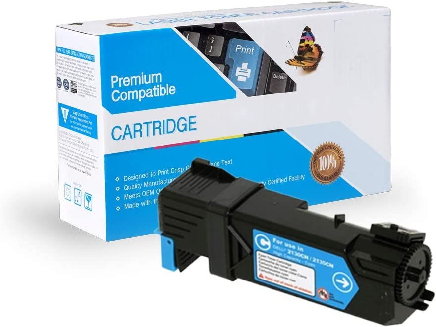 On-Site Laser Compatible Toner Replacement for Dell 330-1437 Cyan Works with: 2130 330-1390 2135