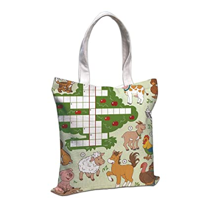 Amazon com: iPrint Cotton Linen Tote Bag, Word Search Puzzle