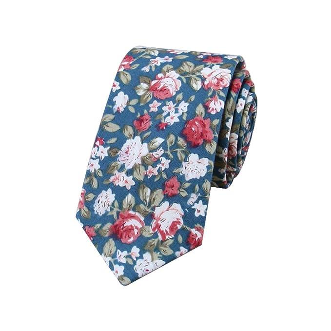 JUNGEN Corbata Estampada Hombre Corbata Floral Corbata Estrecha ...