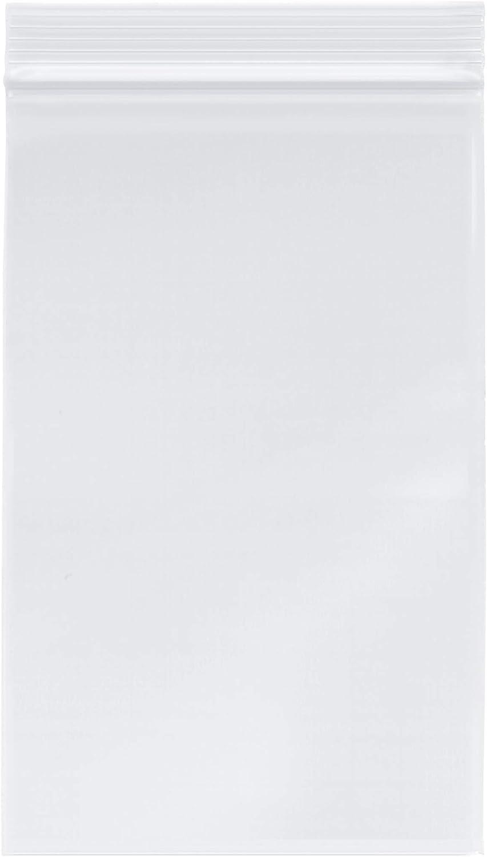 Plymor Heavy Duty Plastic Reclosable Zipper Bags, 4 Mil, 5