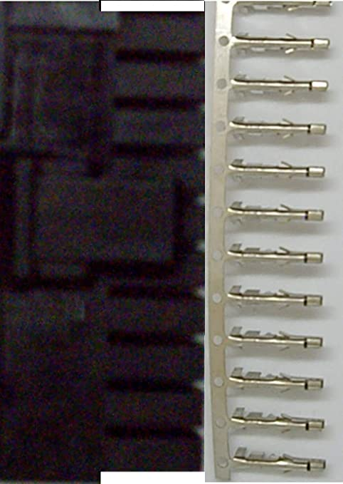 Half Gold Pins Spares ATX Molex 5557 24P 24-Pin Male PSU Power White