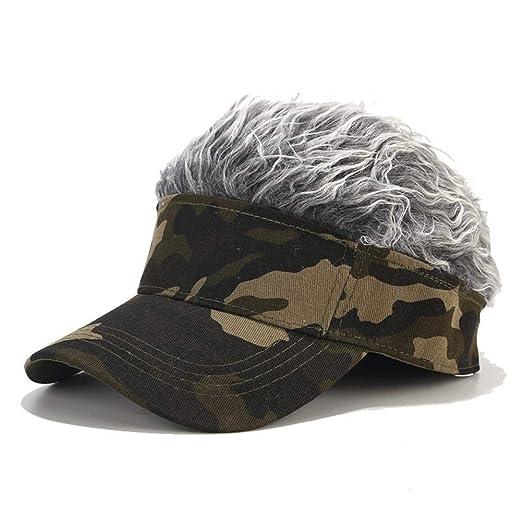 Rlorie Sombrero de Pelo con Pinchos, Unisex Novedad Ajustable ...