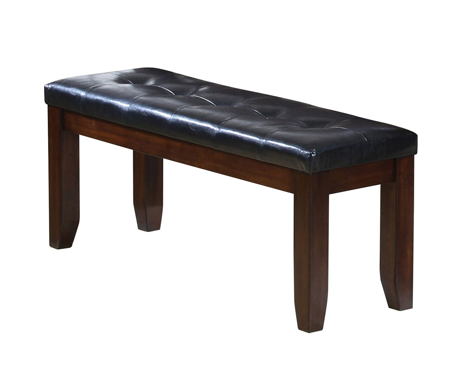 ACME 0 Solid Hardwood Dining Bench, Country Cherry Finish