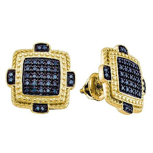 30e3e2ec6adf Jewels by Lux - Pendientes cuadrados de plata de ley para hombre ...