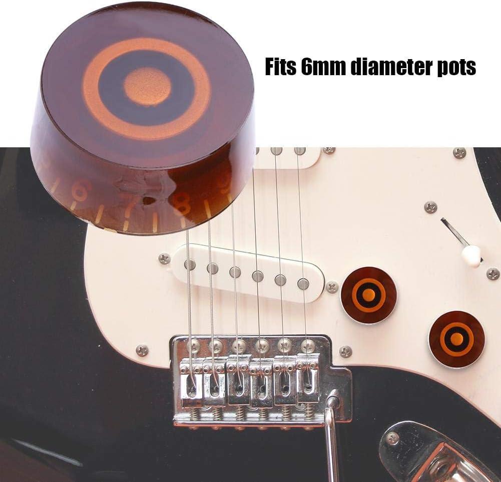 4 PCS Plastic Volume Tone Control Dome Knobs Guitar Bass Parts Vbestlife Volume Tone Control Knob for EPI LP Electric Guitar