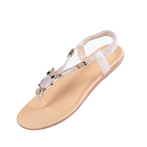 202950778ac294 Vertvie Women s Girls  Bohemian Summer Sandals