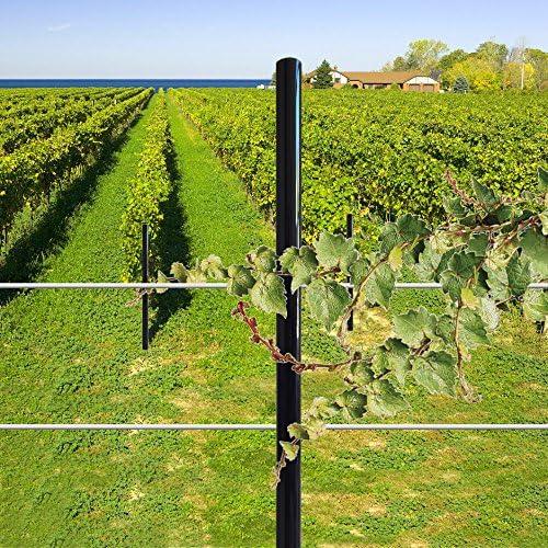 EasyPost Poste de Fibra de Vidrio para viñedo, Poste de jardín, Crecimiento de UVA, 2, 9
