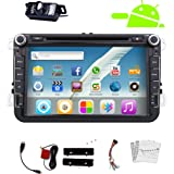 "Pupug GPS Navigator 8"" HD Digital Touch Screen Double 2 Din Android 4.2 Car Radio Vehicle Car DVD Player Bluetooth Wifi Stereo Free Canbus SPECIAL FOR Volkswagen/New Magotan/Sagitar/ Golf/ Bora/Touran/ Jetta/New Santana(2013)+Back Camera"
