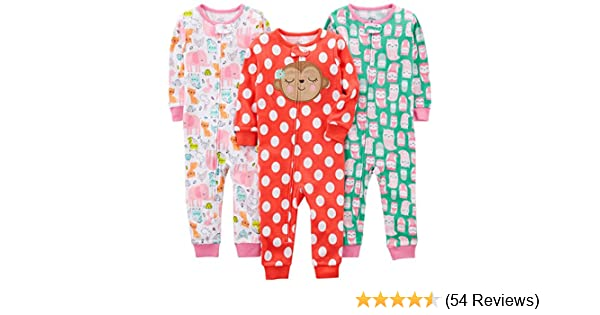Simple Joys by Carters Neutral 2-Pack Cotton Footed Sleep And Play Infant Toddler-Bodysuit-Footies 2 Anni Orso//Tartaruga