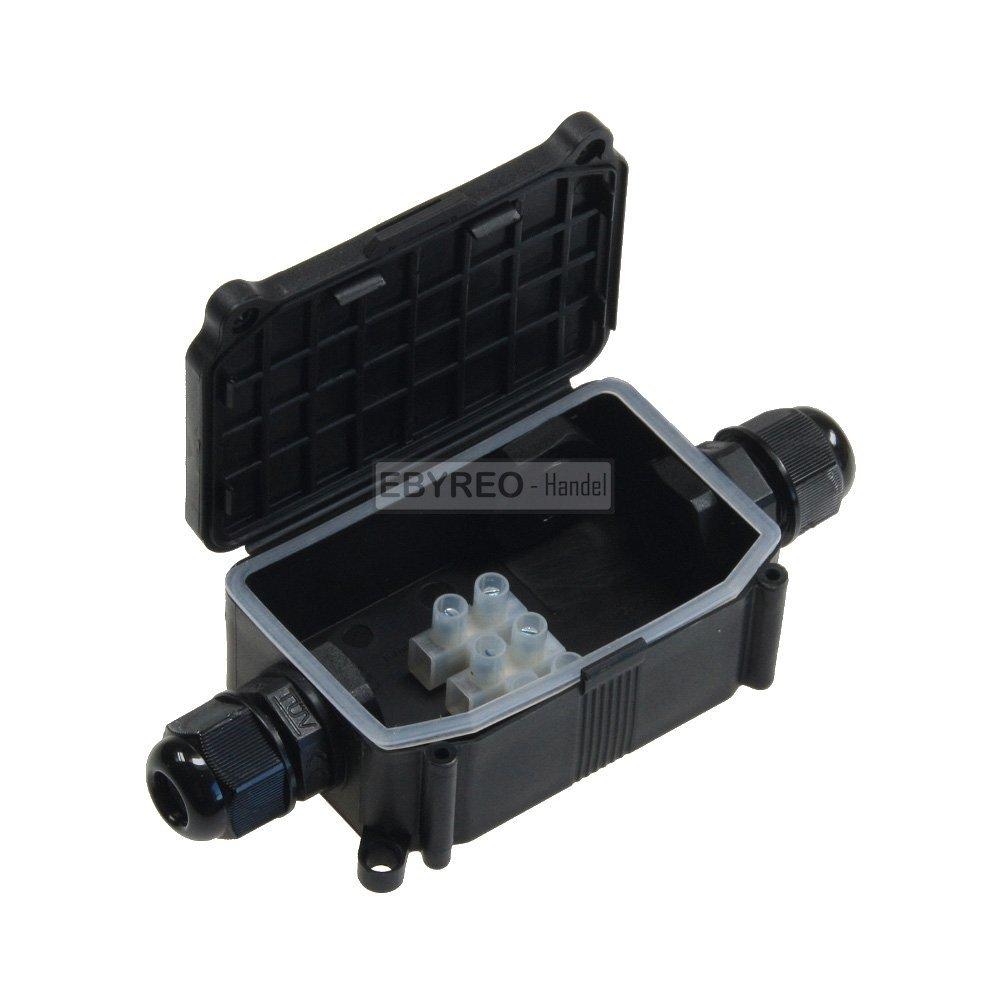 Dosenmuffe f/ür z.B Erdkabel EbyReo IP68 230V wasserdicht 3 polige Dosenmuffe- Verbinder//T-Verbinder