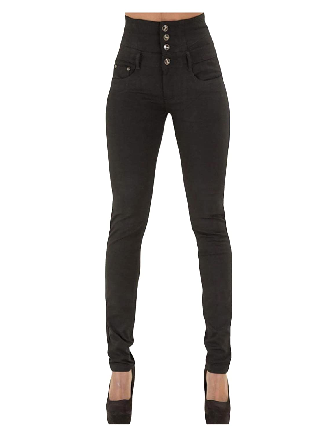 9d0dc956c09 Jueshanzj Womens Pants Sexy Skinny Jeans Button Down High Waist Pants:  Amazon.ca: Clothing & Accessories