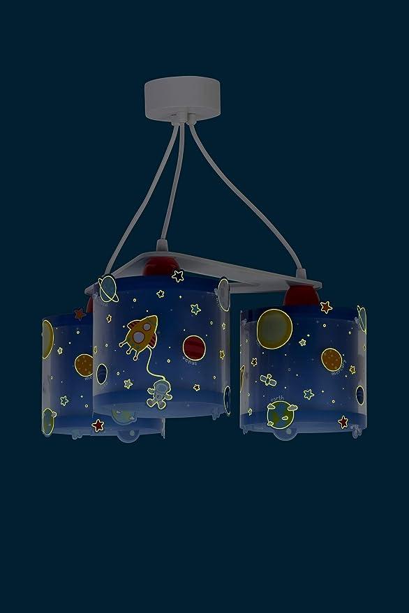 Dalber Lámpara Infantil de Techo 3 Luces Planets Planetas ...
