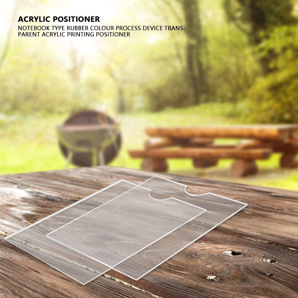 Notebook Stamping Tool Notebook Type Rubber Colour Process Device Transparent Acrylic Printing Positioner Transparent Acrylic Positioner Acrylic Positioner