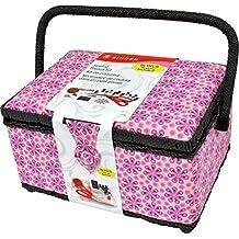 Singer 07253 Large Sewing Basket (Purple Posey),
