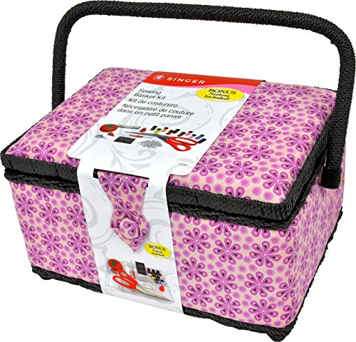Singer 07253 Large Sewing Basket (Purple Posey), by Singer