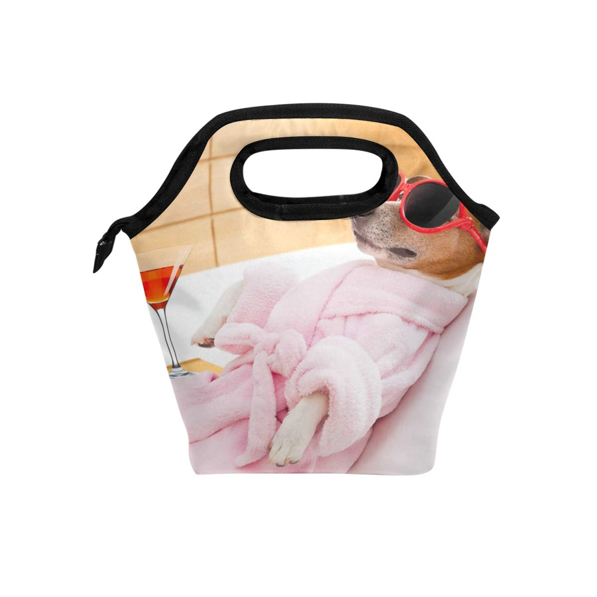 Durable Insulated Lunch Box Dog Spa Wellness Tote Reusable Cooler Bag Organizer Portable Reusable Lunch Tote