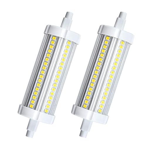Bonlux No Regulable 20W R7S 118MM LED Bombilla Lineal J118 para Lámpara de Pie, Lámpara de Techo, Apliques de Pared (Luz Cálida, 2-Unidades)