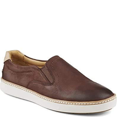 Sperry Top-Sider Women's Gold Cup Rey Slip-On Sneaker,Brown Leather,