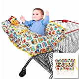 Grocery and Shopping Cart Cover by Croc N Frog - Highchair Cover, Cart Cover for Baby and Toddler - High Quality, Machine Washable - Order Includes Pair of Stroller Hooks and the Fun Game Ideas eBook