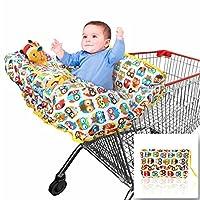 Cubierta de carrito de compras 2 en 1 | Funda para silla alta para bebé | Grande