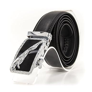 Amazon.com: Para hombre cinturones de bloqueo (negro, 2, 36 ...