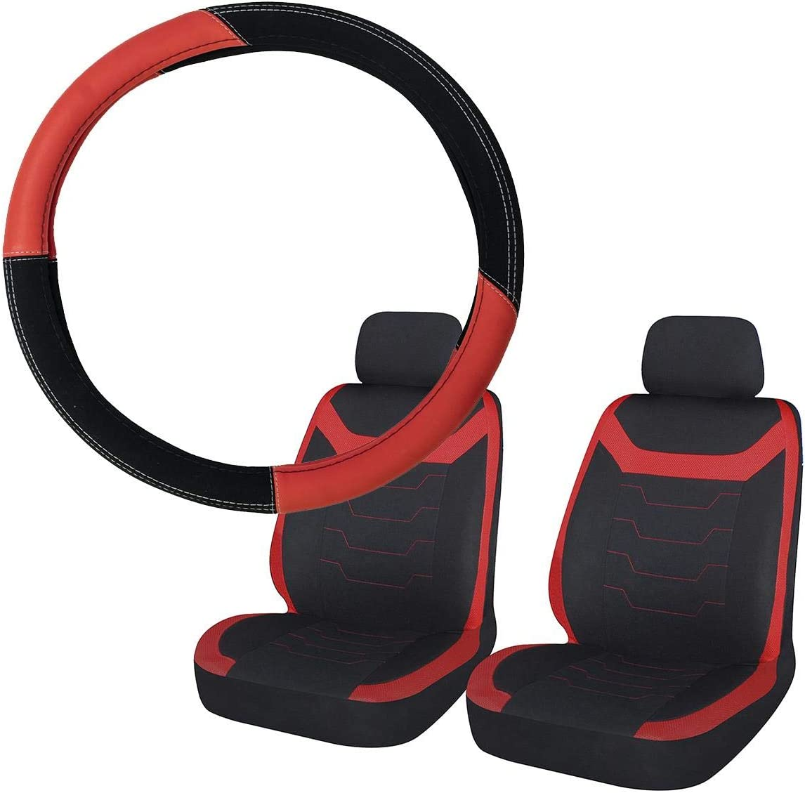 UKB4C Black Full Set Front /& Rear Car Seat Covers for Ceed All Years