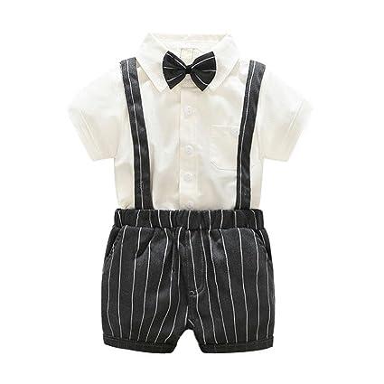 domybest niños tirantes pantalones cortos pantalones + camisas ...