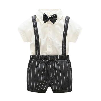 domybest niños tirantes pantalones cortos pantalones + ...