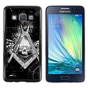 - Skull Devil Diablo - - Hard Plastic Protective Aluminum Back Case Skin Cover FOR Samsung Galaxy A3 a3000 Queen Pattern
