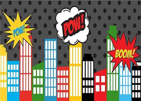 Daniu Fotografía de dibujos animados Backdrops Ciudad foto accesorios para estudio de fondo de bebé vinilo 7x5FT 210cm X 150cm Daniu-sc025