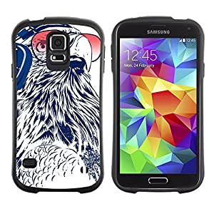 Hybrid Anti-Shock Bumper Case for Samsung Galaxy S5 / DJ Owl