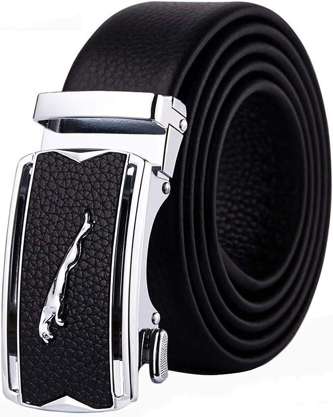 Uomo vera vera pelle di alta qualità elegante Jeans Pantaloni Casual Cintura in Vita