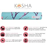 Kosha Yoga Co. Autumn Yoga Mat - Non-Slip, Sweat Absorbent, Eco-Friendly, Microfiber & Natural Rubber Yoga Mat with Free Carrying Strap. Adult Size: (72inch x 24inch 4.5mm Thick)